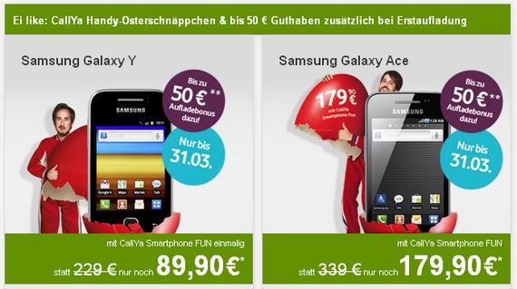 Samsung Galaxy Y im Osterei-Countdown preiswerter