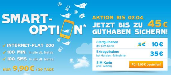 Blau.de Prepaid-Karte mit bis zu 45 € Guthaben