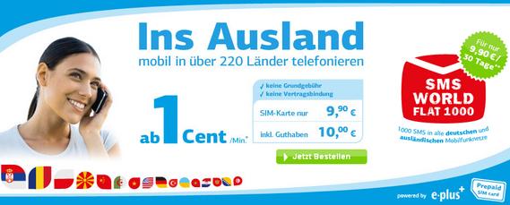 Blauworld SMS World Flat 1000