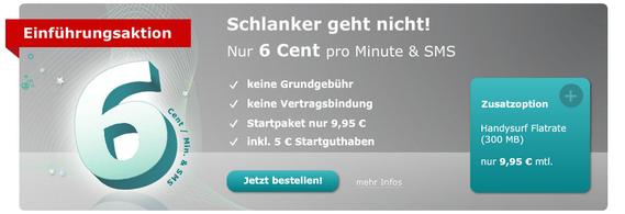 Hellomobil: Neuer 6-Cent-Einheitstarif für Prepaid