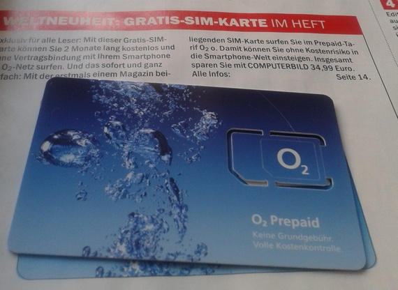 O2 Prepaid für Smatphones in der Computer BILD