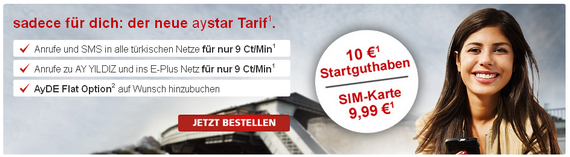 Aystar wirbt mit 10 € Startguthaben (Screenshot)