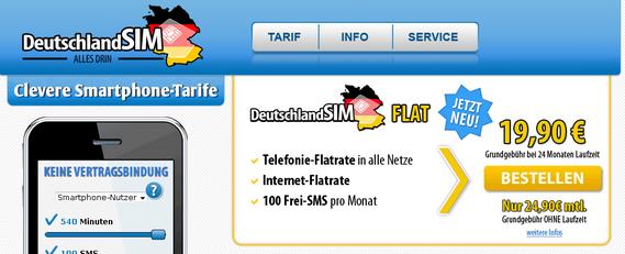 Deutschland SIM Flat (Screenshot)