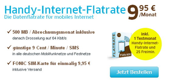 Fonic Handy Internet Flatrate