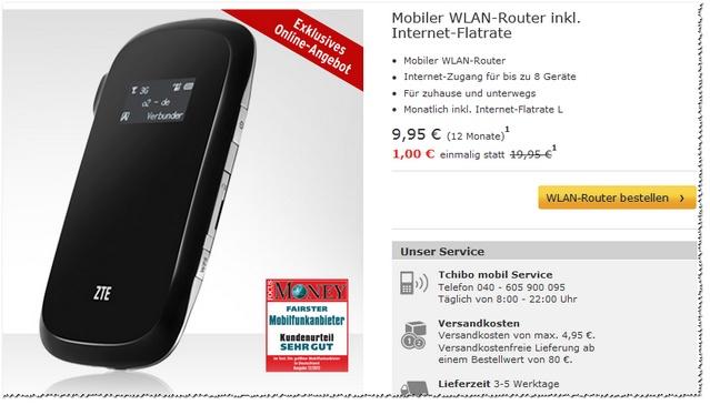 Mobiler WLAN-Router bei Tchibo mobil