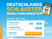Blau.de Prepaid-Karte mit 15 € Startguthaben