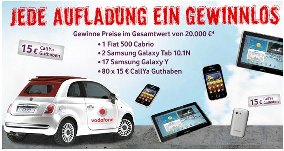 Vodafone: CallYa-Freikarte kostenlos holen, aufladen + gewinnen