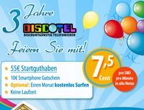 Discotel: Disco Plus feiert 3. Geburtstag: 55 € Guthaben