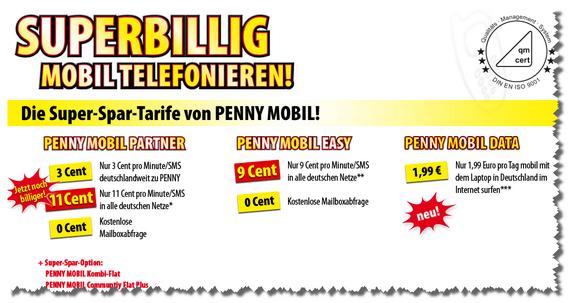 Penny Mobil: Neue Tarife ab 16. Mai 2012