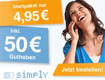 Simplytel: 50 € Guthaben + 3 Monate Surf-Flat
