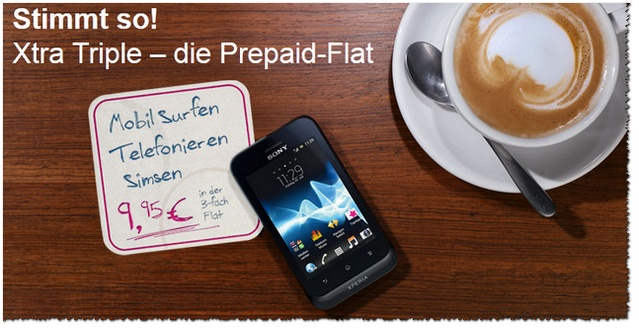 Xtra Triple: 3-fach-Flatrate im neuen Prepaid-Tarif der Telekom