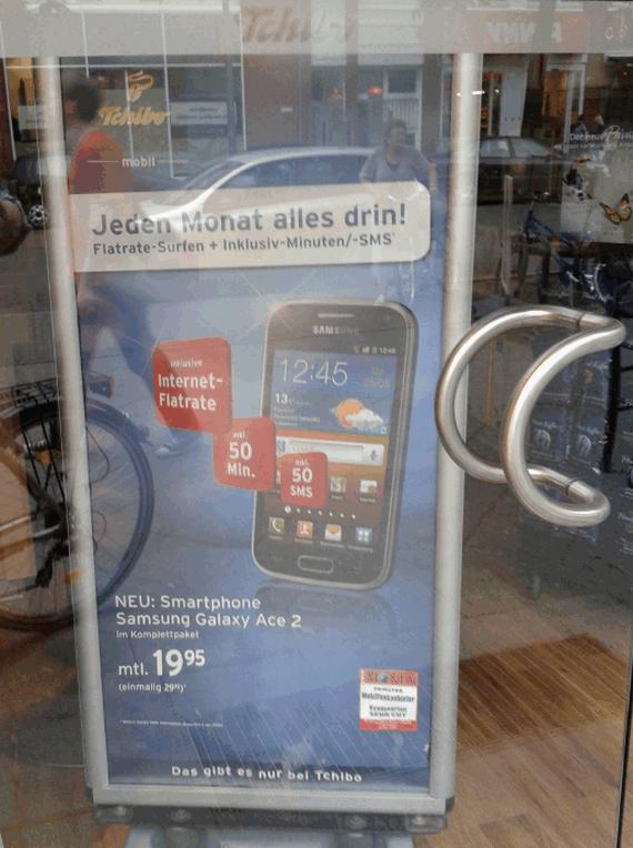 Tchibo mobil: Samsung Galaxy Ace 2 mit Vertrag
