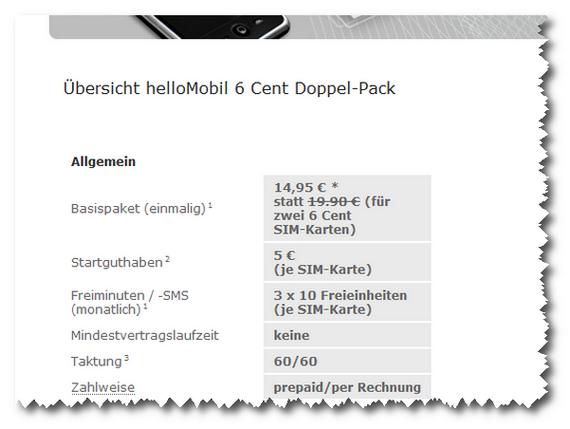Hellomobil Summer Special: 2 SIM-Karten für 14,95 €