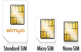 Simyo: Nano-SIM-Karte erhältlich
