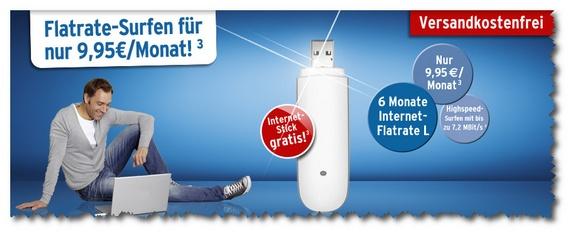 Tchibo mobil: Gratis-Surfstick mit 6-Monats-Vertrag Internet-Flatrate