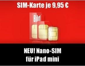 BILD mobil: Nano-SIM-Karte für den Datentarif ist da