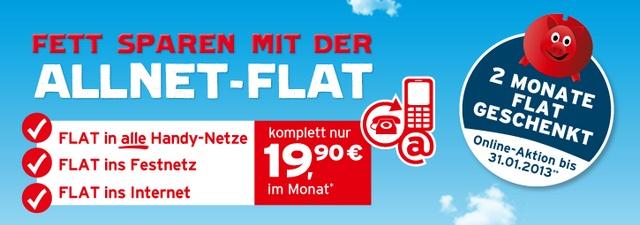 blau.de Allnet-Flatrate 2 Monate kostenlos