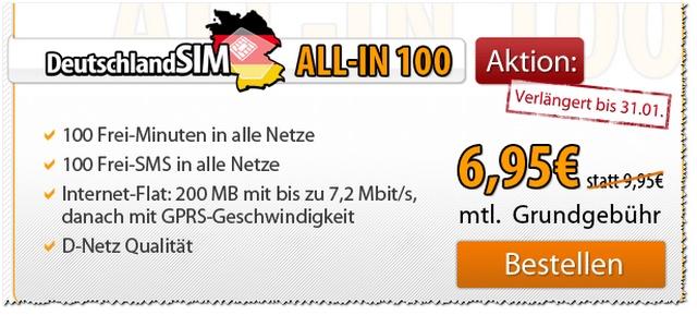 DeutschlandSIM ALL-IN 100 Vodafone (D2-Netz)