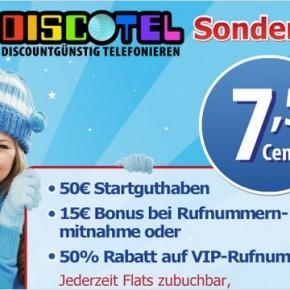 discoTEL mit Sonderaktion 50 € Startguthaben
