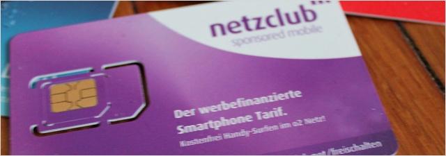 netzclub karte Netzclub Nano SIM Karte für 10 € tauschen