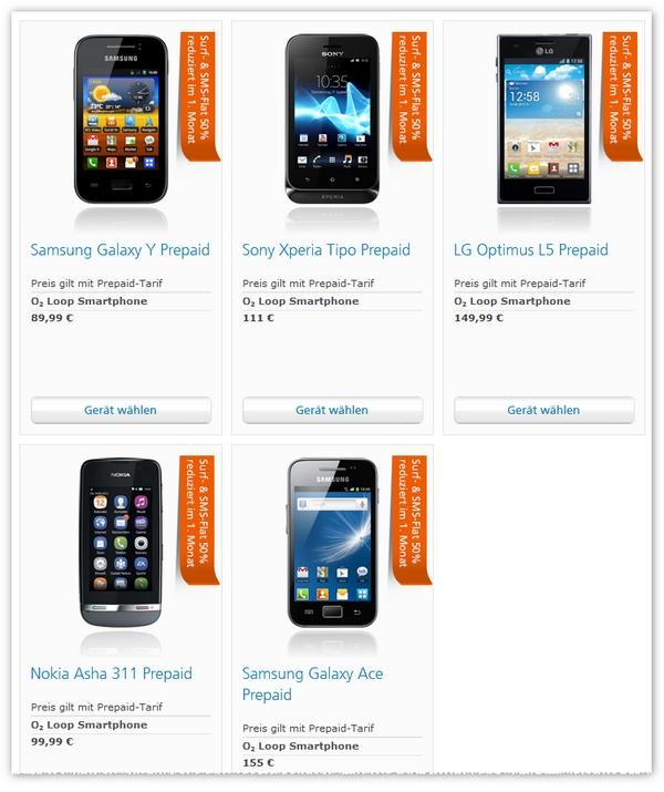 O2 Loop Prepaid-Feuerwerk mit neuen Smartphone-Tarifen