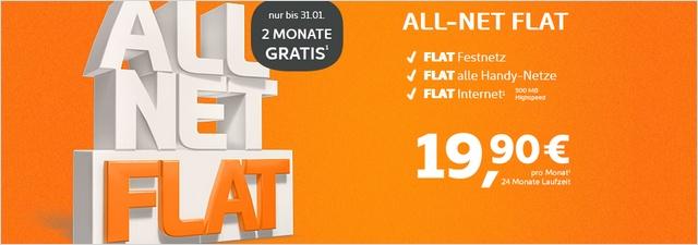 Simyo Allnet-Flat im Januar 2 Monate kostenlos
