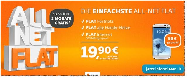 simyo Allnet-Flatrate gratis für 2 Monate