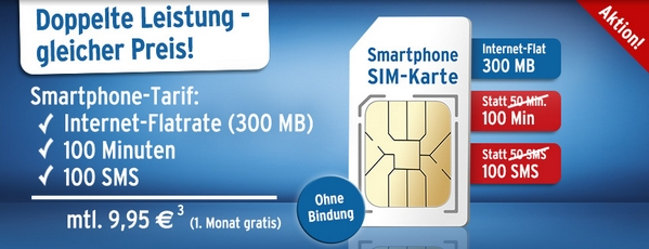 Tchibo Smartphone-SIM ohne Vertragsbindung