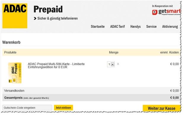 ADAC Prepaid: SIM-Karte gratis zum Start