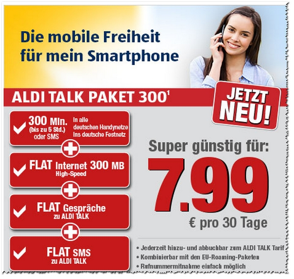 ALDI TALK Paket 300: Neue Prepaid-Option des Discounters