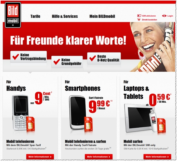 BILD mobil: Website-Relaunch