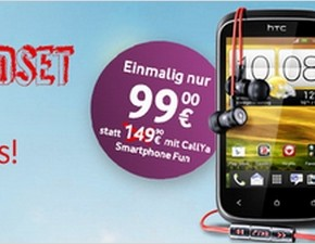 CallYa Weekend Special HTC Desire C für 99 €