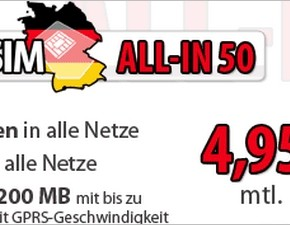 DeutschlandSIM ALL-IN 50