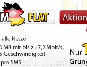 DeutschlandSIM Flat bis 15.02.2013 für 17,75 €