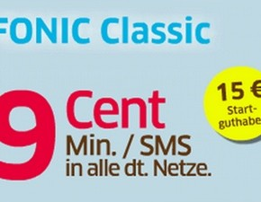 FONIC Classic mit 15 € Startguthaben
