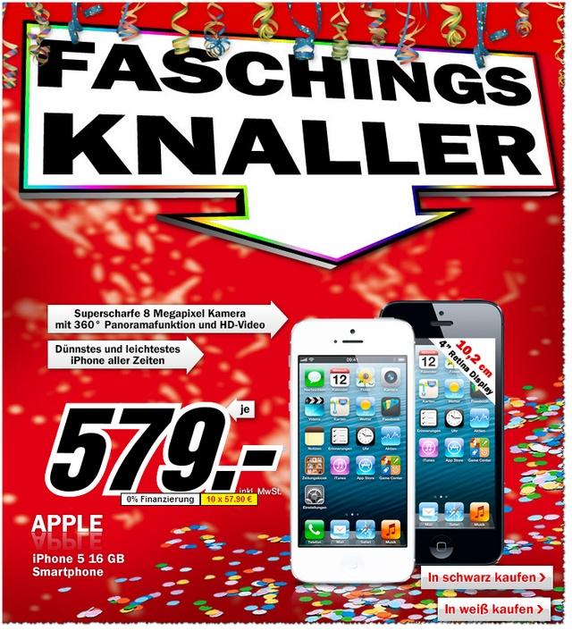 iPhone 5 für 579 € im MediaMarkt