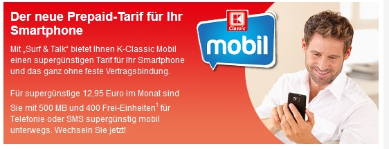 K-Classic Mobil mit neuem Smartphone-Tarif