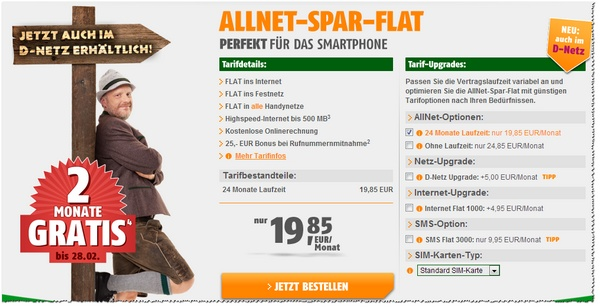 Klarmobil AllNet-Spar-Flatrate