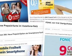 Prepaid-Vergleich: Prepaid-Angebote im Februar 2013