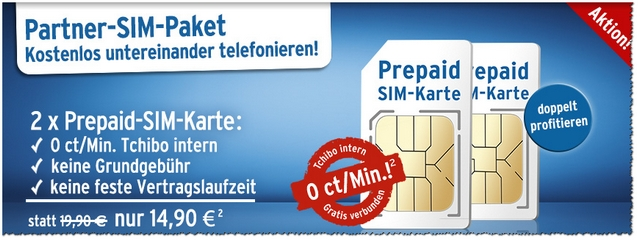Tchibo mobil Partner-SIM-Paket