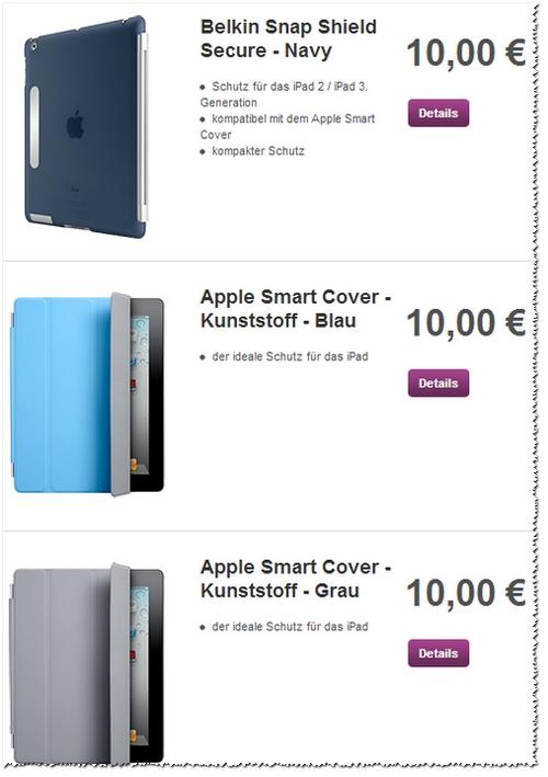 Vodafone: Smart Cover, Smart Case und Belkin-Lederhülle für 10 €