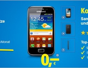 1&1 Mobile All-Net-Flat-Special mit Smartphone Samsung Galaxy Ace Plus