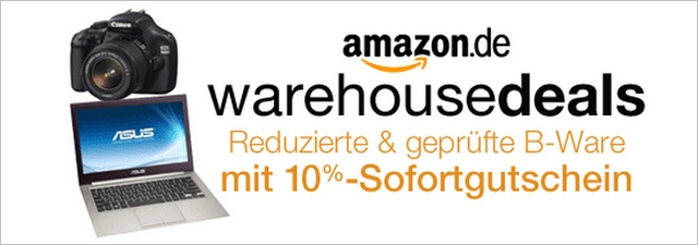 Amazon Warehousdeals mit 10% Gutschein