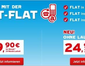 Blau.de Allnet-Flatrate ohne Laufzeit buchbar