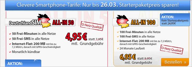 DeutschlandSIM Startpaket für 0 €