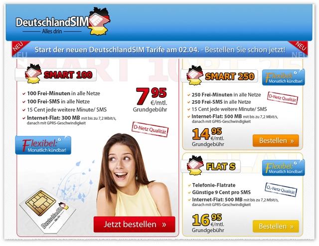 Neue DeutschlandSIM-Tarife: 3 Handytarife starten exklusiv vor Ostern