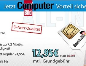 DeutschlandSIM ALL-IN 1000: Neuer Smartphone-Tarif mit ComputerBILD-Vorteil