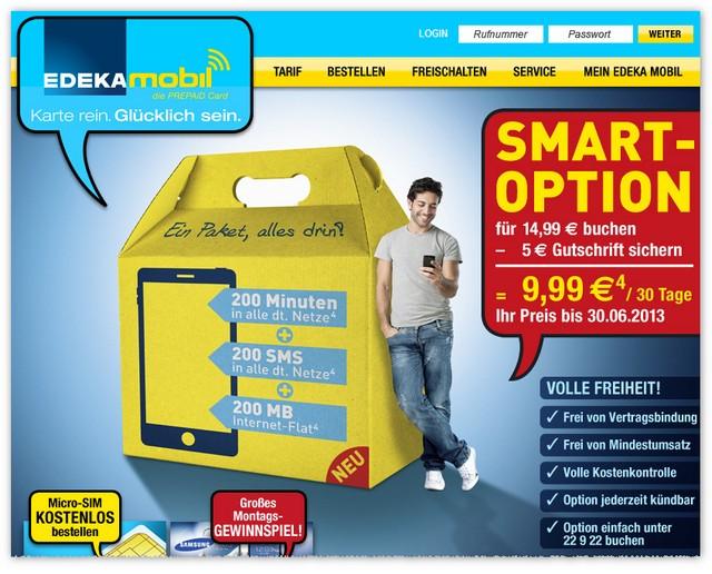 Die neue EDEKA-mobil-Smart-Option startet, Screenshot