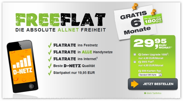 freenetmobile freeFLAT gratis