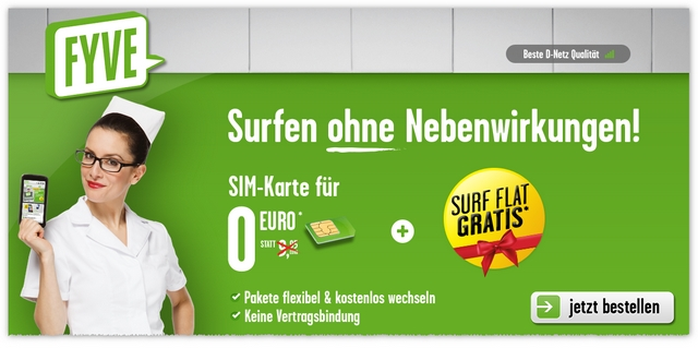 FYVE: Prepaid-Karte gratis